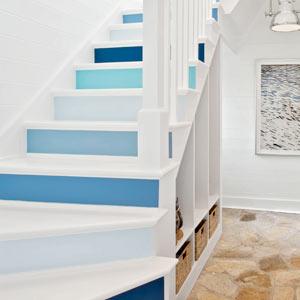 hues of blue stairway