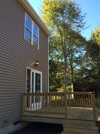 Back deck leading to eat-in kitchen
