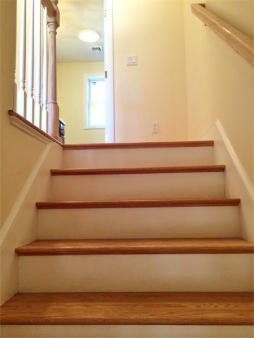 Hardwood up the stairs