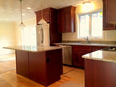 kitchen to dining with appliances