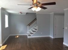 3 living room view of stairway