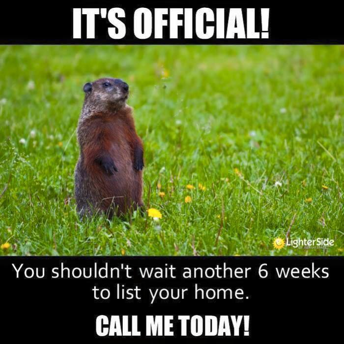 Ground Hog Day 2016 Spring is coming