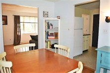 dining room to living room and kitchen