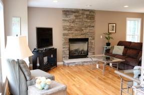 Living room with hardwood floors