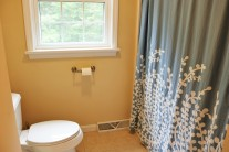 Main bath with tub and shower