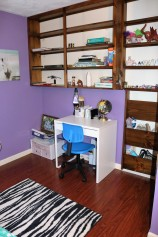 purple desk area