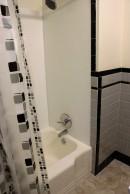 retro bathtub and shower