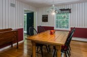 Dining room with hardwoods