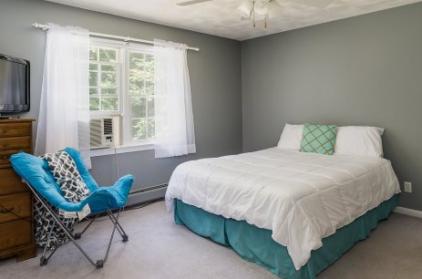 Bedroom with double closet