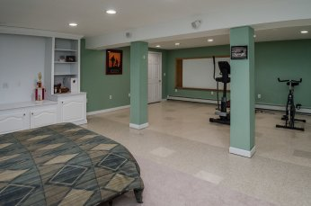 Flexible space in finished lower level