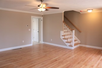 12 Prairie living room to upstairs and kitchen