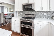 81 Avalon Drive upgraded appliances and glass backsplash