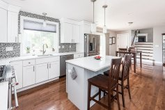 81 Avalon Drive beautiful kitchen with center island to dining area and great room
