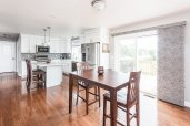 Gorgeous Eat-in Kitchen with sliders to deck