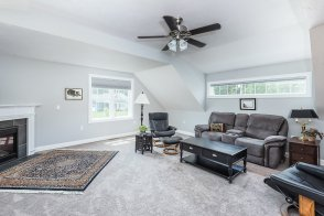 81 Avalon Drive Great Room with Transom window and gas fireplace