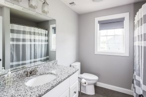 81 Avalon Drive full bath in contemporary grays