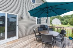 81 Avalon Drive back deck for relaxing