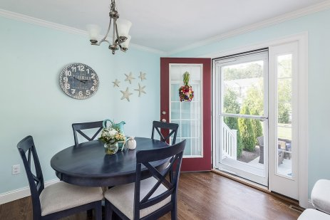 Dining area with french door to patio