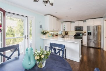 Eat in kitchen with access to patio