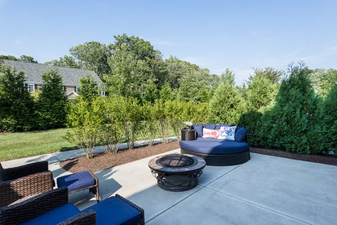 Private back patios