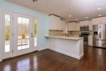 eat in kitchen with french door to patio