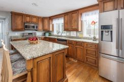 Warm and inviting upgraded kitchen