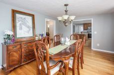 Dining room to kitchen and family room
