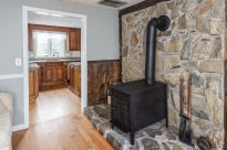 Woodstove in living room