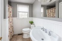 Full bath main level with walk in shower