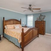 Beautiful master suite with walk in closet and full bath